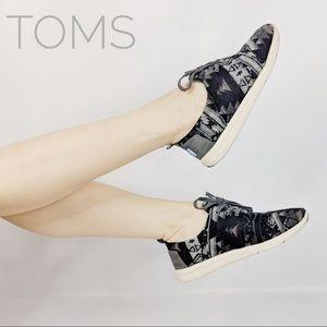Toms Del Rey Grey Tribal Wool Sneakers